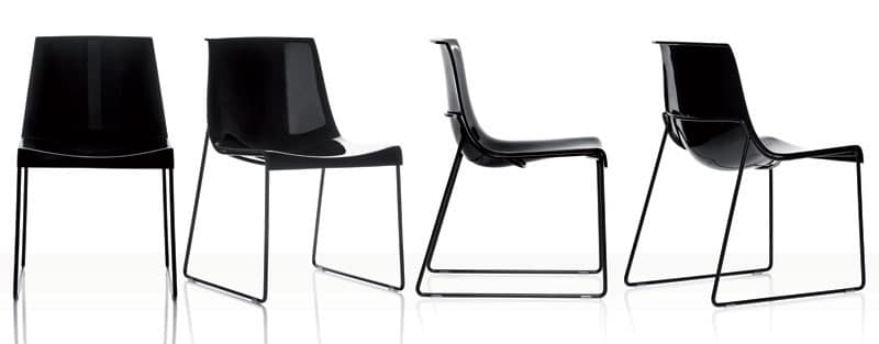 Nuvola sedie plastica moderne ristorante idfdesign for Sedie plastica moderne