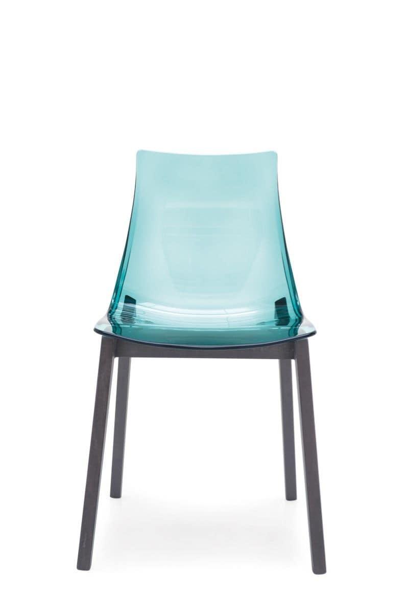 Sedia in faggio scocca in plastica per la casa e i bar for Sedia design srl