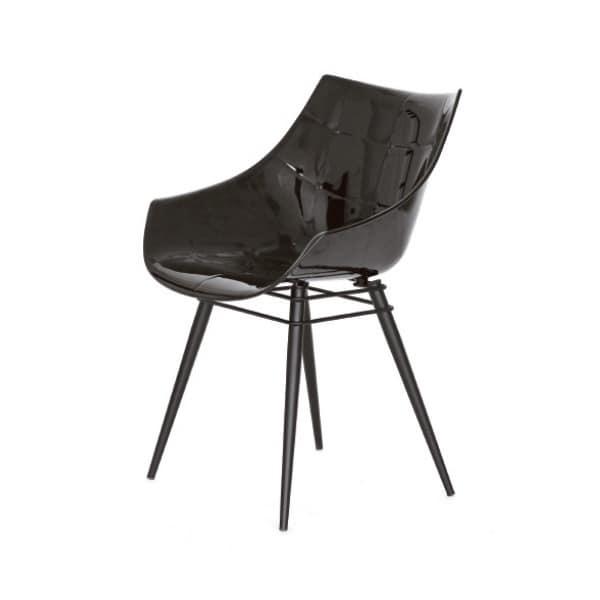 Sedia con schienale in plastica per soggiorno idfdesign for Amazon sedie soggiorno