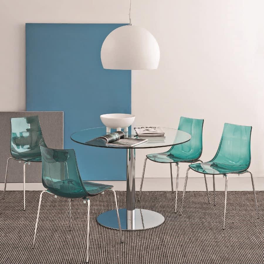 SE 2270, Sedia con schienale in plastica, vari colori, per ristorante