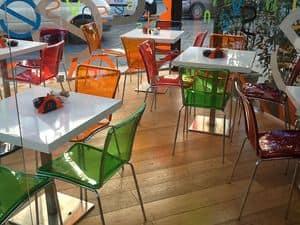 Sol chair, Sedie in policarbonato colorato, impilabili,per il contract e la cucina