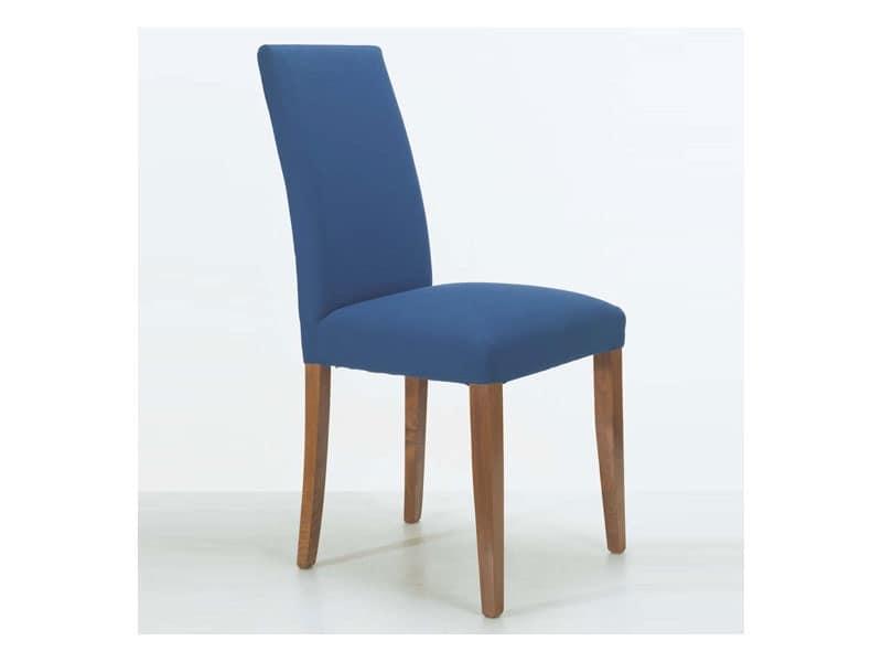 Sedia in legno imbottita per arredamento navale idfdesign for Sedie imbottite moderne