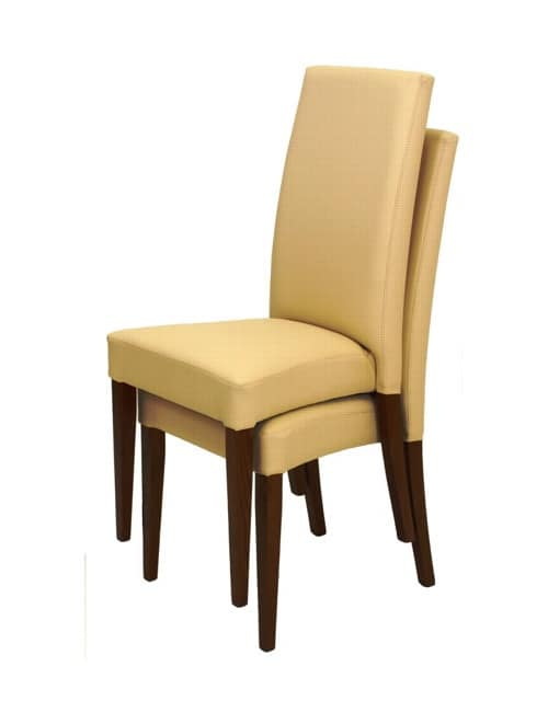 Sedia moderna con struttura in legno per sala attesa for Sedie imbottite moderne