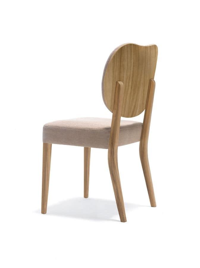 Sedia imbottita in legno per cucina e sala da pranzo | IDFdesign