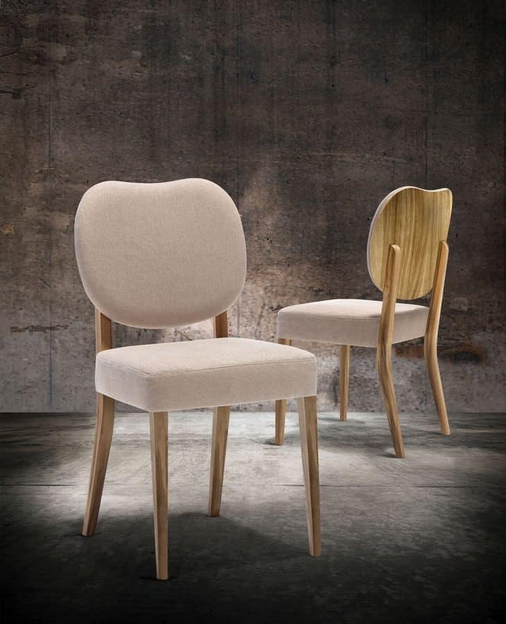 Sedia imbottita in legno per cucina e sala da pranzo for Sedie da cucina imbottite