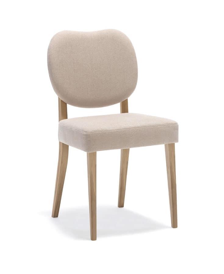 Sedia imbottita in legno per cucina e sala da pranzo for Sedie da pranzo economiche