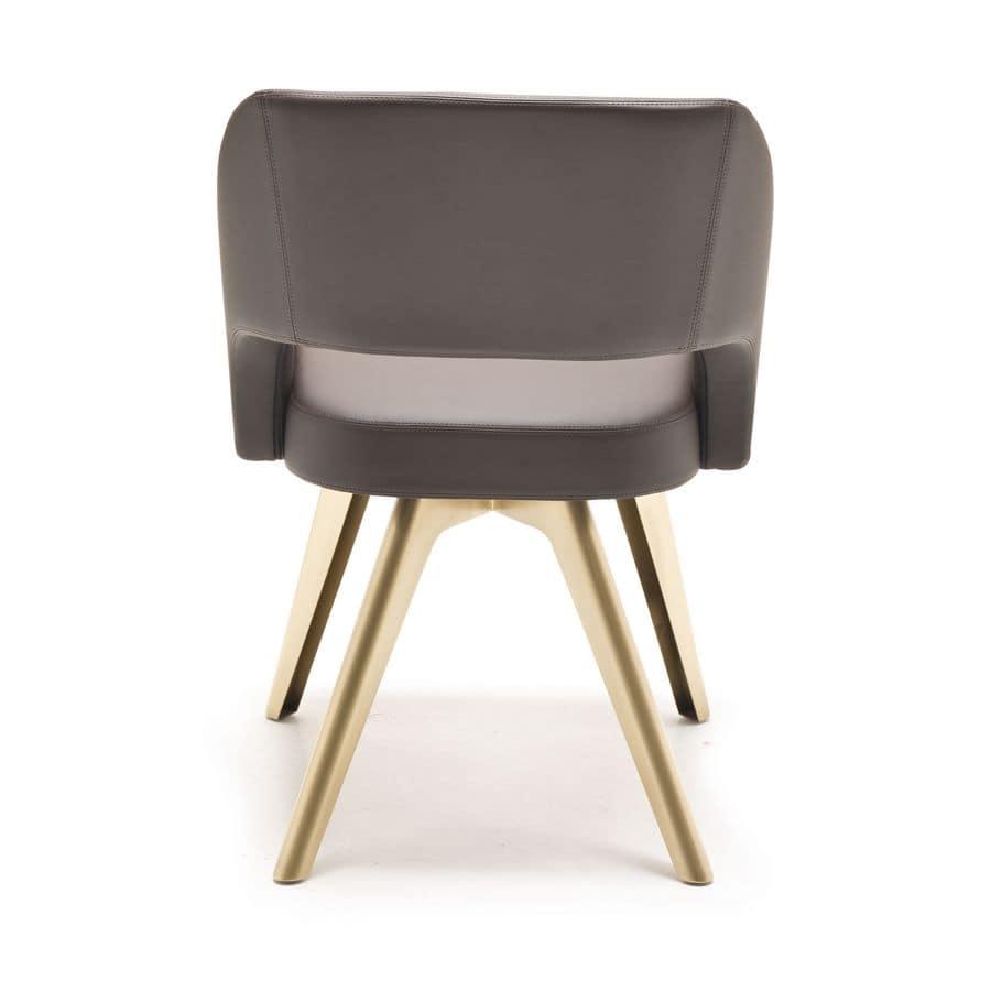 Seduta moderna con scocca imbottita gambe in ferro for Sedie imbottite moderne