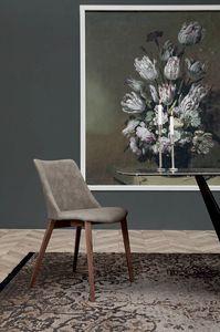 AGATA, Sedia o poltroncina con struttura in legno o metallo