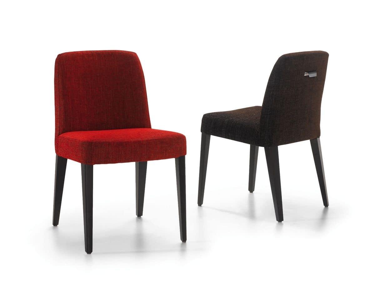 Sedia rivestita in tessuto per cucina e sala da pranzo for Sedie design outlet
