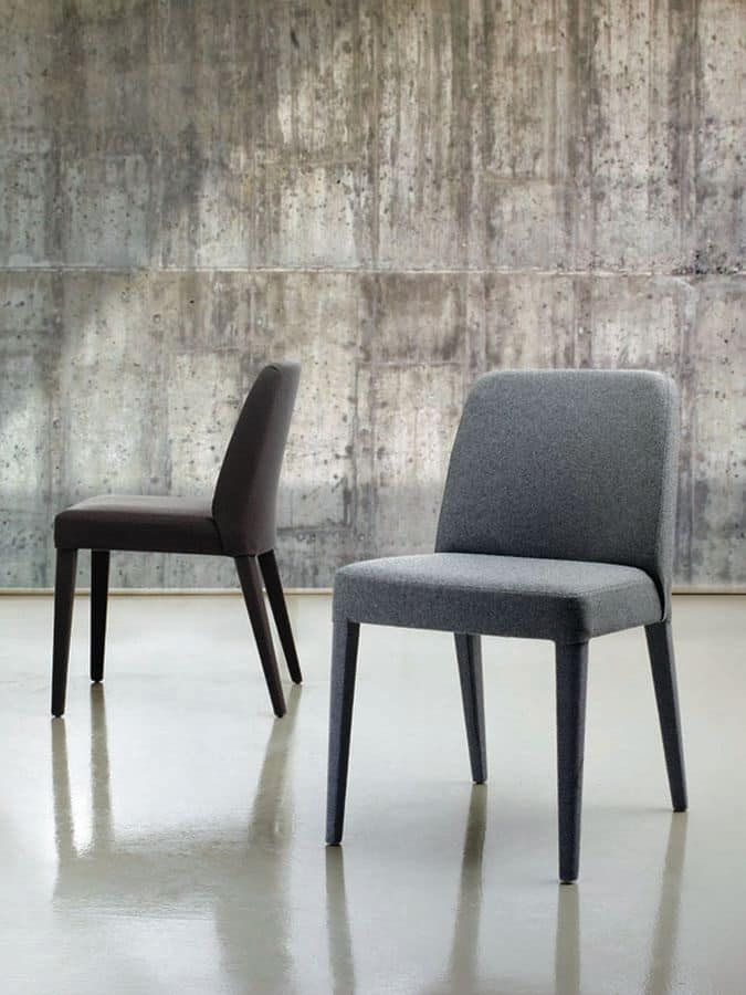 sedia rivestita in tessuto per cucina e sala da pranzo