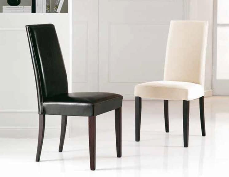 Sedia Imbottita Design : Sedia imbottita con schienale alto idfdesign