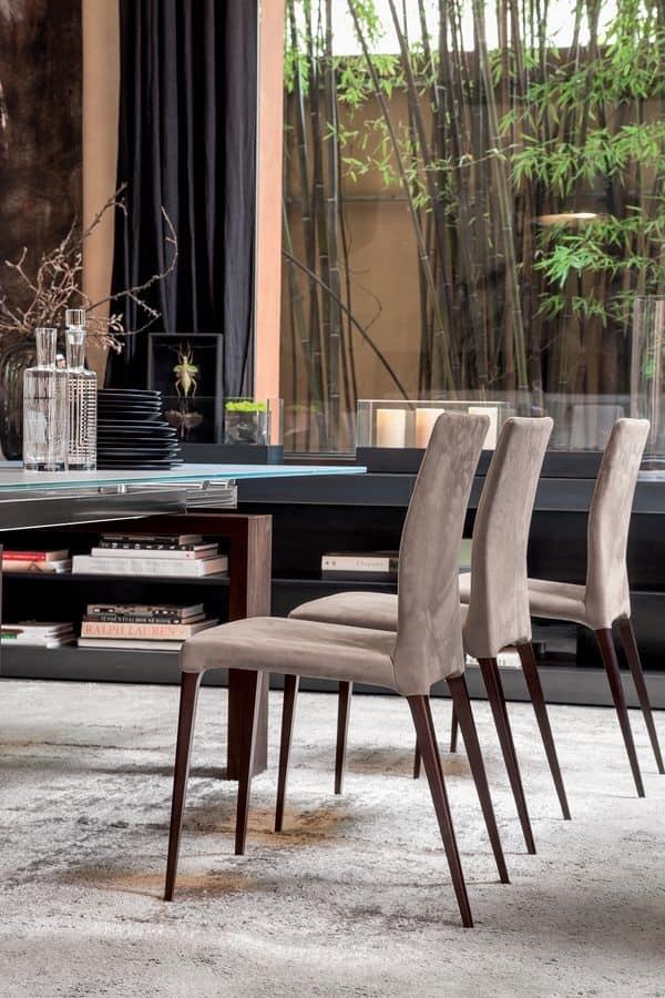 ARAGONA, Sedia moderna imbottita,  per cucina e sala da pranzo