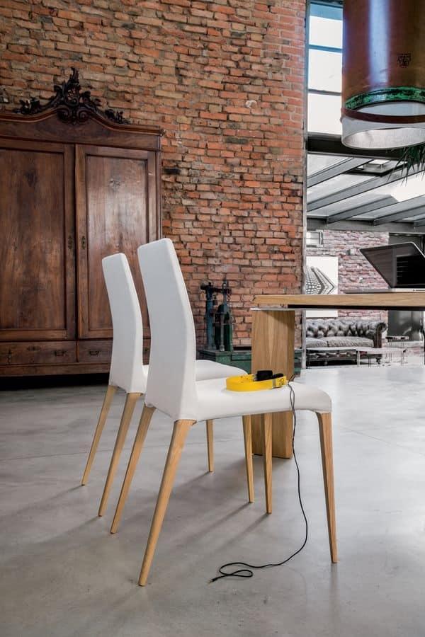 Aragona sedia moderna imbottita per cucina sedia in for Sedia design srl