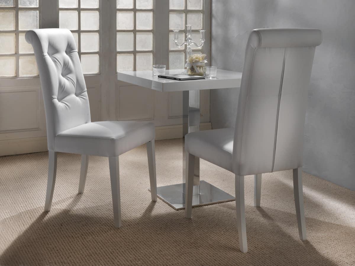 Art. 124 Billionaire, Elegante sedia per sala da pranzo, schienale capitonné