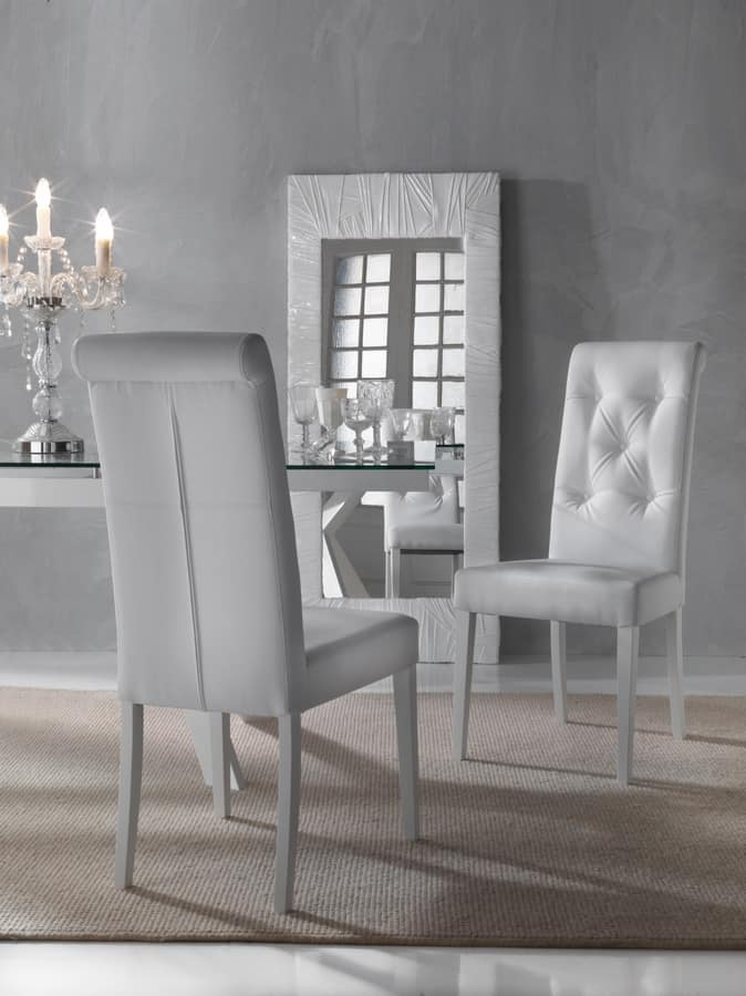 Elegante sedia per sala da pranzo schienale capitonn for Sedie imbottite per sala da pranzo