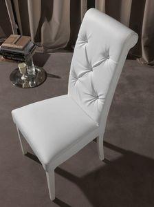 Art. 124 Billionaire, Elegante sedia per sala da pranzo, schienale capitonn�