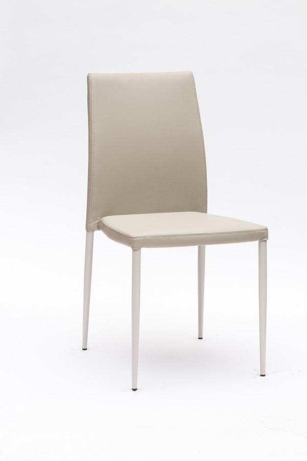 Art. 220 Naked, Comoda sedia imbottita, con elegante cucitura sullo schienale