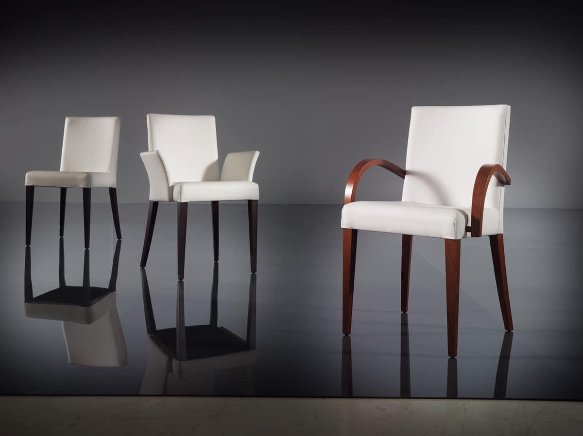 sedia morbida per salotto moderno in pelle idfdesign
