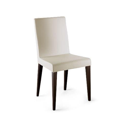 Sedia comoda imbottita moderna gambe in faggio idfdesign for Design sedie moderne