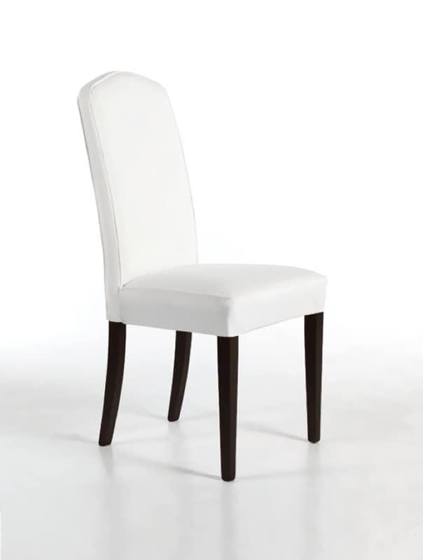 Sedie moderne in pelle sedie moderne schienale alto pelle for Sedie imbottite grigie