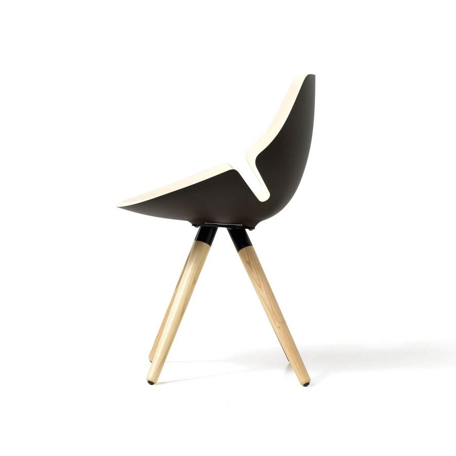 Sedia con scocca imbottita e colorata, per ufficio e casa | IDFdesign