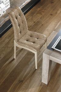 GRENOBLE SE180, Sedia in legno verniciato e imbottitura capitonn�