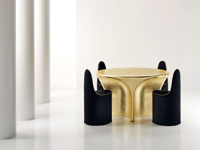 Sedia design struttura in acciaio rivestita in pelle for Sedie outdoor design