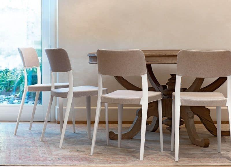 Sedia in polipropilene diversi rivestimenti e colori for Sedie moderne design