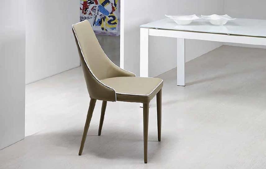 Sedia imbottita con avvolgente schienale | IDFdesign