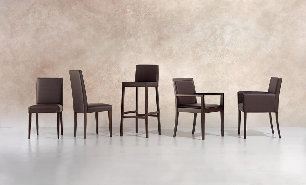 Sedia imbottita dalle linee moderne per sala conferenze for Sedie per sala