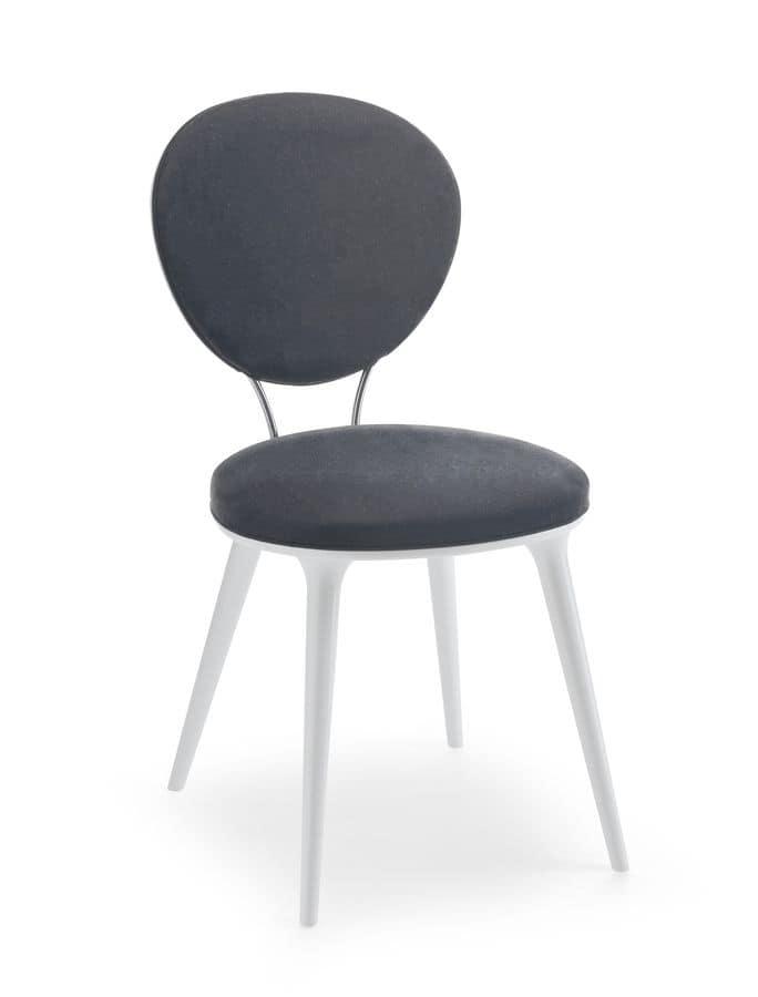 Sedia imbottita con seduta e schienale tondi idfdesign - Sedie imbottite design ...