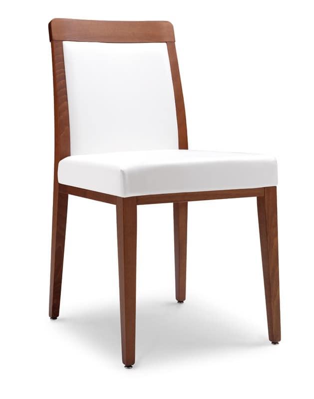 Sedia moderna con sedile imbottito per ristoranti idfdesign for Sedie nere moderne