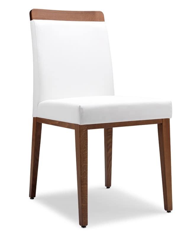 Sedia rivestita in tessuto struttura in legno per bar for Sedie tessuto design