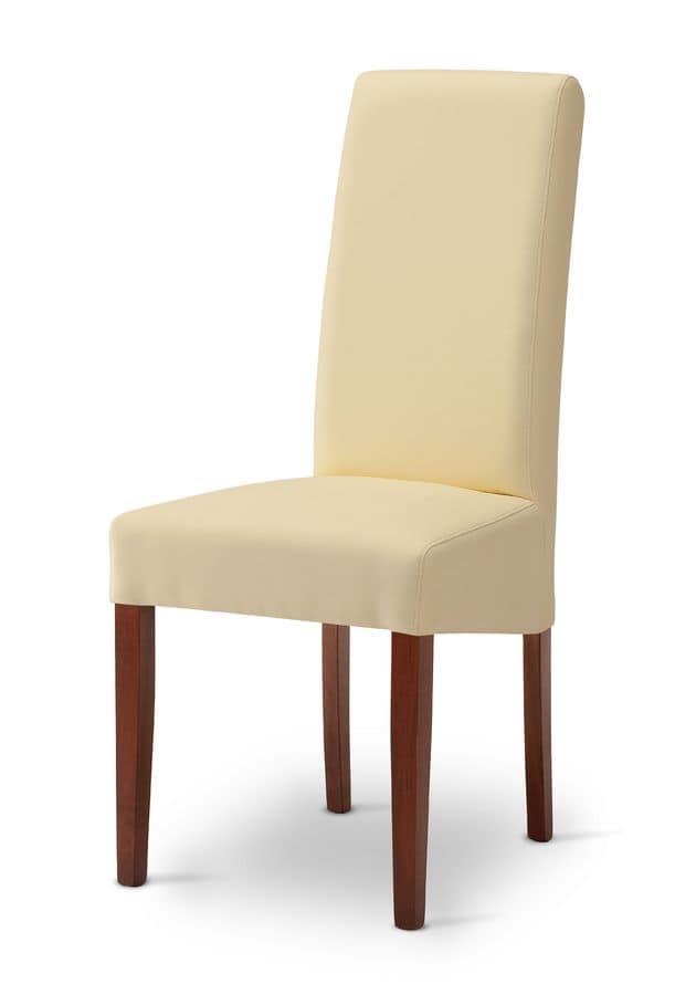 Sedia imbottita moderna ideale per sala da pranzo idfdesign for Sedie moderne design
