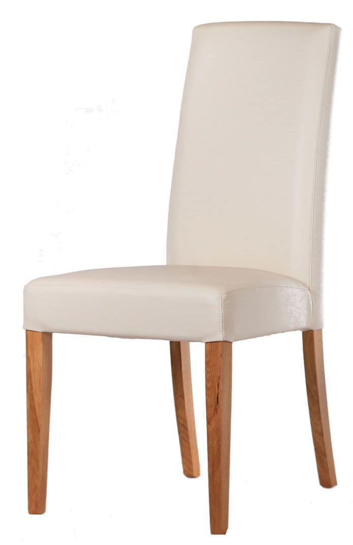 Sedia con base in legno verniciato rivestita per hotel for Sedie legno moderne
