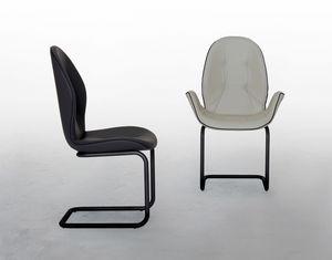 SORRENTO, Sedia con o senza braccioli, con base a cantilever