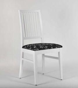 320, Sedia laccata con seduta imbottita