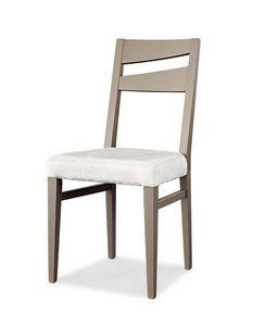 Art. 195/S, Sedia da pranzo moderna, con seduta imbottita