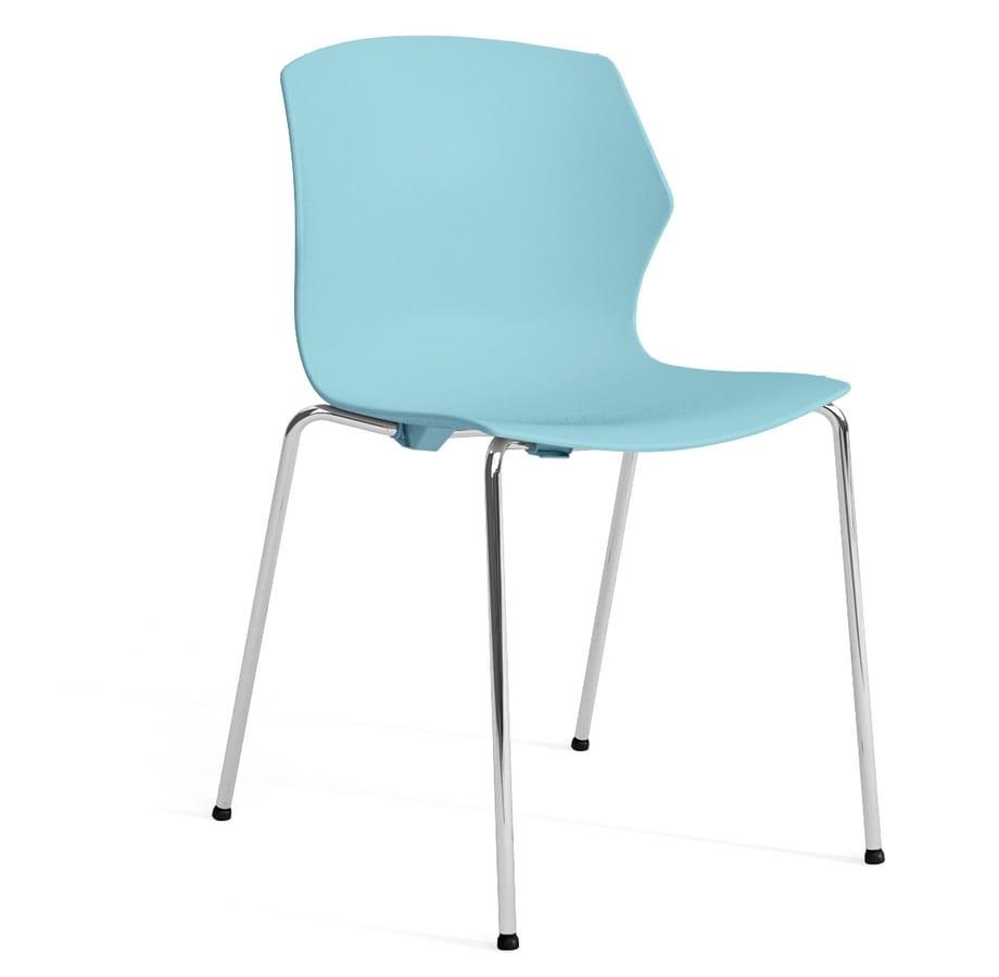 Sedie Moderne In Plastica.Sedia In Plastica E Metallo Con Braccioli Idfdesign