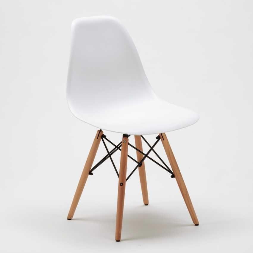 Sedia in polipropilene con gambe in legno | IDFdesign