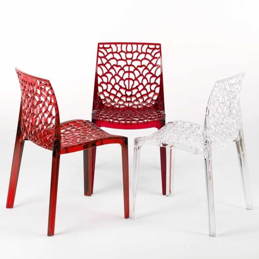 Sedia per cucina in policarbonato trasparente | IDFdesign