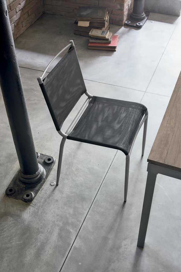 Sedia per cucina con seduta in rete plastica | IDFdesign