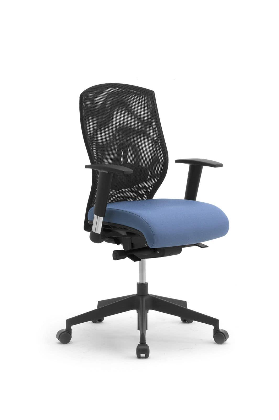 Sedia per ufficio con ruote schienale in rete idfdesign for Sedie economiche per ufficio