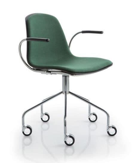 Sedia con ruote per ufficio idfdesign for Sedia ufficio ruote