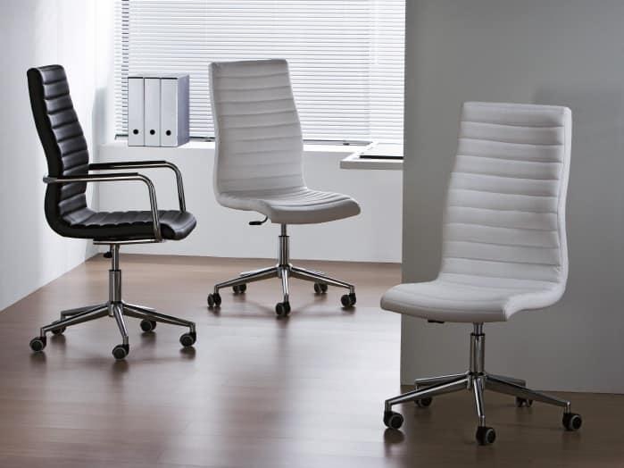 Sedia operativa per ufficio girevole altezza regolabile for Sedia da ufficio ortopedica