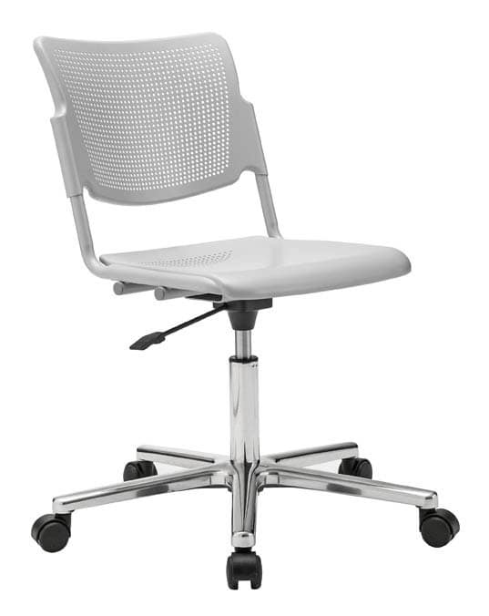Sedia per ufficio su ruota con base cromata idfdesign for Amazon sedie ufficio