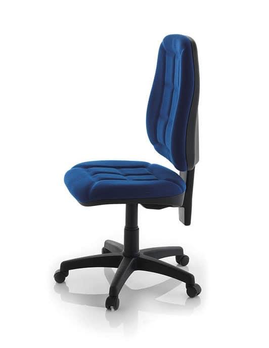 Sedia semplice per ufficio imbottita in polipropilene for Sedia design ufficio