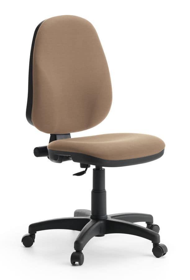 Sedia operativa con schienale alto per ufficio idfdesign for Sedie operative per ufficio