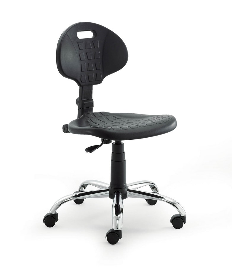 Sedia operativa con seduta e schienale in poliuretano for Amazon sedie ufficio