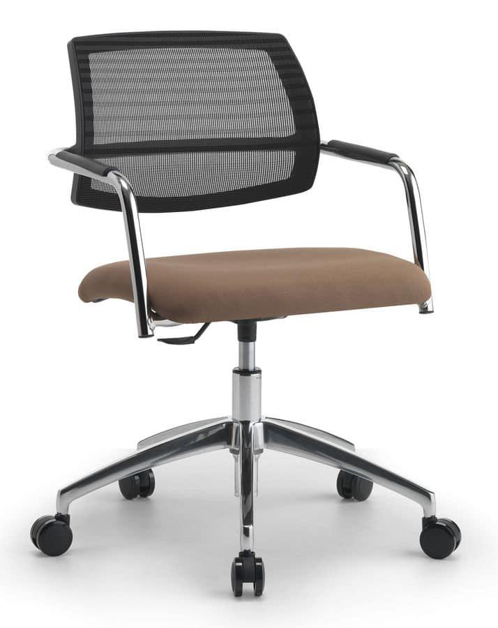 Sedia direzionale con alzata a gas per ufficio idfdesign for Amazon sedie ufficio